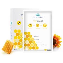 Expressions Vee Mask /V-Face Hydrating Mask (5pcs/box + Free 2pcs) |Lifting |Whitening |Anti-Aging