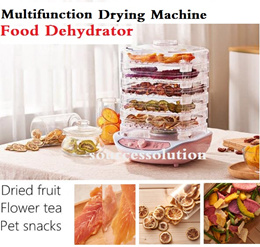Food Dehydrator Fruit Vegetable Herb Meat Drying Machine Pet Snacks Food Dryer With 5 Trays