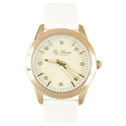 a640941afbe Ted Baker Japan 30m Quartz Analog Dress White Leather Strap Ladies Watch  TE2103