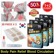 🔥HOT EVENT🔥Korea No.1 Brand Microcurrent Coin Patch✨Buy1 Free2✨Pain Relief Strengthening immunity