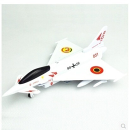 CAIPO EF2000 fighter aircraft model alloy model plane back sound and light toys