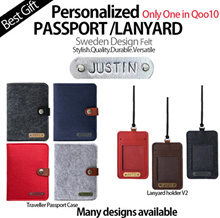 [HELLOIMD]♥Personalized POUCH/LANYARD/PASSPORT HOLDER♥ Christmas GIFT IDEA! PASSPORT CUSTOMISED Name