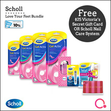[RB] 【FREE $25 Victoria Secret gift card!】Scholl – Love your feet Bundle (5 items) | $6 Qoo10 coupon