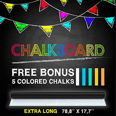 ▶$1 Shop Coupon◀ Chalkboard Contact Paper Roll - Black Vinyl Wall Decal  Removable Sticker Poster -