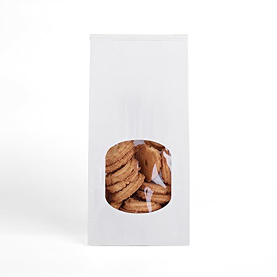 57407d52e2 GSSUSA Halulu Bakery Bags Paper Treat Bags Resealable Kraft Paper Bags  Cookie Popcorn Bags with Wind