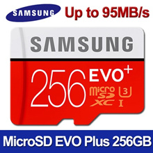 SAMSUNG Micro SDXC  EVO PLUS 256GB Memory Card with SD adapter ★ U3 Class10 ★100MB/s UHS-3