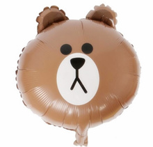 [10 PCs / Sets] LINE FRIENDS Bear Brown Bunny Cony Rabbit Sally Air Balloon Float Balloons Kids Chil