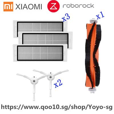 3Pcs Hepa filter+2Pcs side brush+1Pcs main brush Suitable for Xiaomi Mi  Robot Roborock S50 S51 Vacuu
