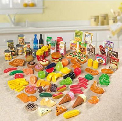 Just Like Home 120 piece Deluxe Playfood Set / kitchen play accessories /  housekeeping / role play