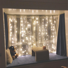 [Ready stock in SG] - Drop down Led curtain lights 3m x 3m fairy lights USB battery operated