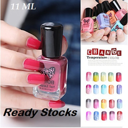 ICON M64 Cheapest Peel Off Temperature Change Colour Nail Polish Eco-friendly Non-toxic Water-based 28 Colours sticker nail art top base coat Selling sticker lingerie dress plus size makeup cream