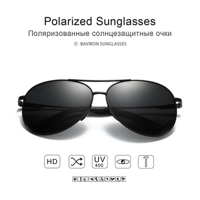 55bebfdf3f wholesale BAVIRON Aviator Sunglasses Men Polarized Sun Glasses Pilot  Sunglasses for Men Driving Pola