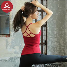 【Moving Peach】camisole ladies gym top fitness tank top women yoga vest