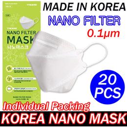 🥇20pcs KOREA Nano 3-PLY Premium Mask / Individual Pack / korean mask / Face shield / 3ply mask