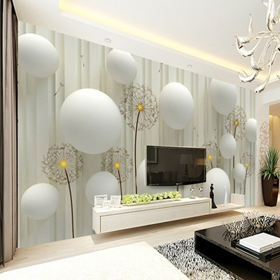 Qoo10 Dandelion With Romantic 3d Ball Photo Wallpaper Living Room