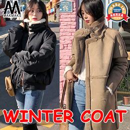 ◆Winter synthetic mouton Jacket /  rider / padded jacket / leatherette jacket◆women fashion