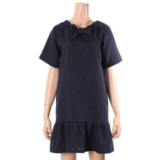 オリーブハッストプ先導リンネンマリンワンピースS172W995 面ワンピース/ 韓国ファッション