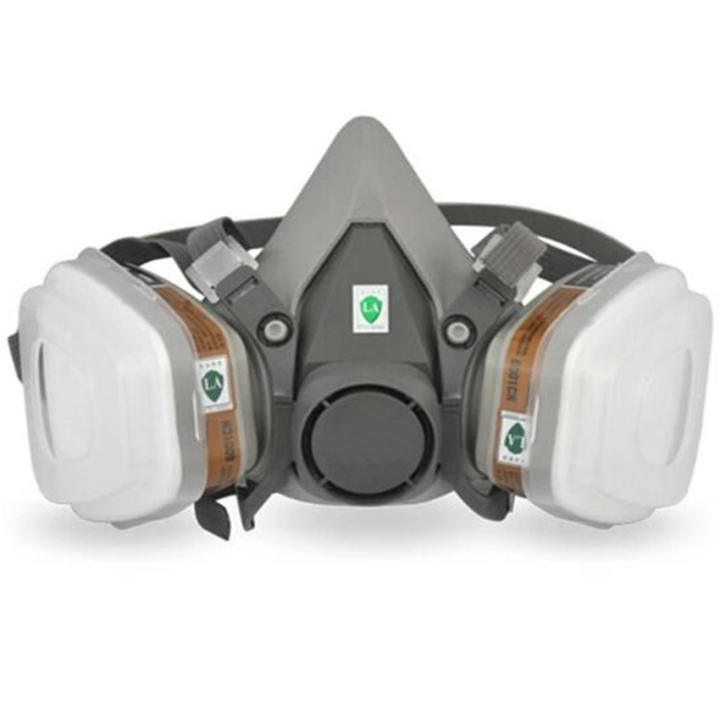 Spraying In 1 Paint Mask Respirator Half N95 Gas Suit 6200 For 7 Face