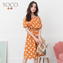 YOCO - Sweet Dot with Sleeves Dress-190843