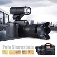 Polo Sharpshots Auto Focus AF 33MP 1080P 30fps FHD 8X Zoomable Digital Camera W/ Standard + 0.5X Wid