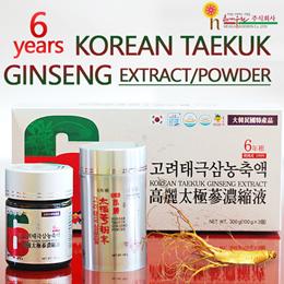 ★100% 6 Years Old korean Taekuk Ginseng POWDER/EXTRACT 300g★Functional Health Supplement/Made in Korea/gg_029