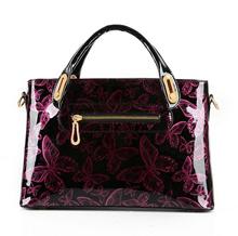 New Butterfly Patent leather Handbags Women Casual Tote bag Ladies Printing Shoulder Messenger Bags Bolsa feminina sac