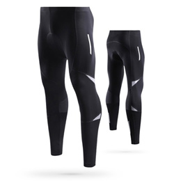 Lixada Men s Reflective Bicycle Pants Gel Padded Cycling Compression Tights Leggings,Outdoor Riding