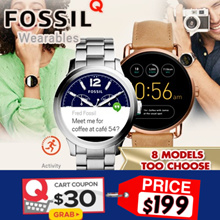 Best Price FOSSIL Q TOUCHSCREEN Smart Watch Collection.Activity TrackingLocal Stocks and Warranty.
