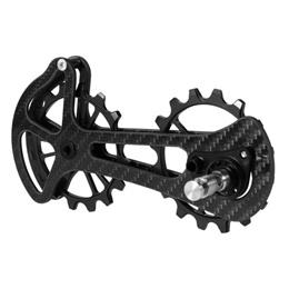 16T Bicycle Bike Ceramic Bearing Jockey Pulley Wheel Set Carbon Fiber Rear Derailleurs Guide Bicycle