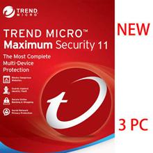 Trend Micro Titanium Maxmium Security 11 2018 - 1 YEAR 3 PC/Antivirus/internet security/ anti virus/