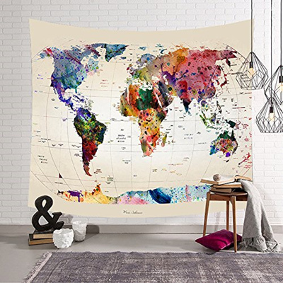 Qoo10 godpass world map tapestry wall hanging mandala bohemian map godpass world map tapestry wall hanging mandala bohemian map tapestry wall art fabric home decor gumiabroncs Images