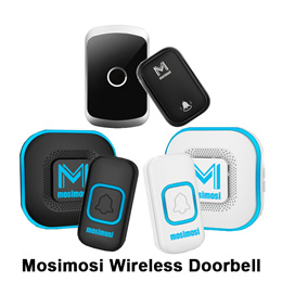 Mosimosi Wireless Intelligent Home Doorbell LED Night light 300M Remote Waterproof