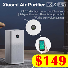 [Local Warranty]★ XIAOMI Air Purifier 2S // Pro  OLED Screen Display  Control by SmartPhone App