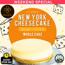 New York Cheese Cake - Traditional baked cheesecake with crumbly digestive biscuits base