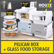 ONLINE EXCLUSIVE ♦ 10th Restock ♦ Bundle Of 4 35L Pelican Box + 3 Assorted Glassware ♦