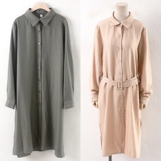 ウィスィモールBA円田ロングシャツ、ワンピースY708M シフォン/レースのワンピース/ 韓国ファッション