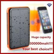 300000mAh Large Capacity Waterproof Portable Solar Power Bank Dual USB Solar Charger IE