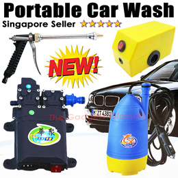 Portable Cordless Car Wash Pump★Pressure Water Spray Washer Accessories★SG Seller Local Warranty