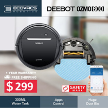[LOCAL WARRANTY] Ecovacs OZMO600 Robot Vacuum Cleaner+110 mins Mopping 2 in 1+App Control