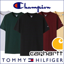 [1ST Deal $9.9] ★100% Authentic★ Champion Unisex T-SHIRT T425 ★ TOMMY HILFIGER ★ CARHARTT★ ADULT SHORT SLEEVE TEE