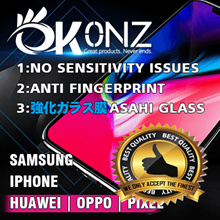 ★Iphone Xs/Xs Max Tested★The Best★No Sensitivity Issue★OKONZ 3D Curve Japan 9H Tempered Glass★