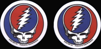 "Grateful Dead Sticker PAIR OF 2 1//2/"" STEAL YOUR FACE Decal"