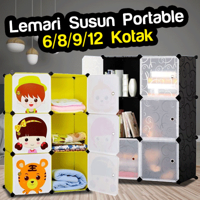 Lemari Susun Plastik Portable Deals for only Rp325.000 instead of Rp325.000