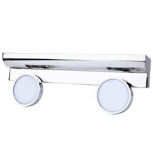 6W DOUBLE HEADS LED MIRROR LAMP CABINET LIGHTS (SILVER)