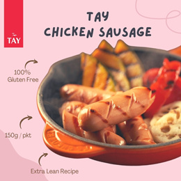 [CSTAY] [Bundle of 3] Tay Chicken Sausage (3 Flavours) 150g/pkt (10 pieces each pack)