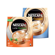 NESCAFE Latte Caramel 20 Sticks + Latte Hazelnut 20 sticks