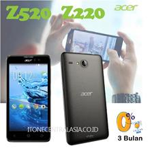 ACER LIQUID Z520 / Z220 / Z410 / Z320 [ HANDPHONE ACER / SMARTPHONE ACER / BLACK AND SILVER / GARANSI RESMI ACER INDONESIA 1 TAHUN ] CICILAN BCA 0% SELAMA 3 BULAN