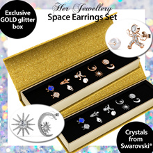 Crystals from Swarovski® - Her Jewellery - Space Earrings Set