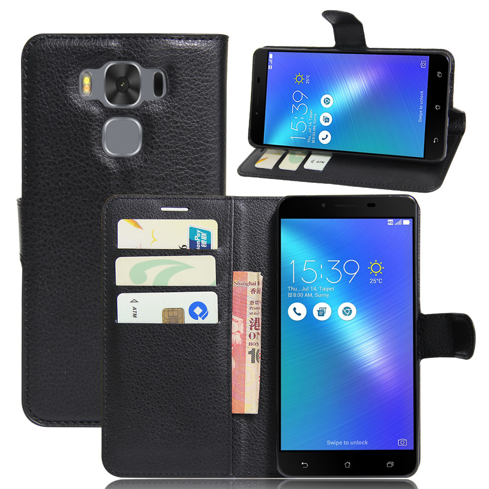 buy cheap 60bd1 e2847 For Asus Zenfone 3 Max ZC553KL Case Leather Flip Back Cover For 5.5 inches  Asus Zenfone 3 Max
