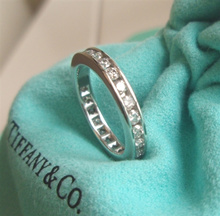 /[TIFFANY  Co. Tiffany]/Band ring in Platinum with a full circle of round brilliant diamonds /Wedding Band/Wedding Ring/Propose Ring
